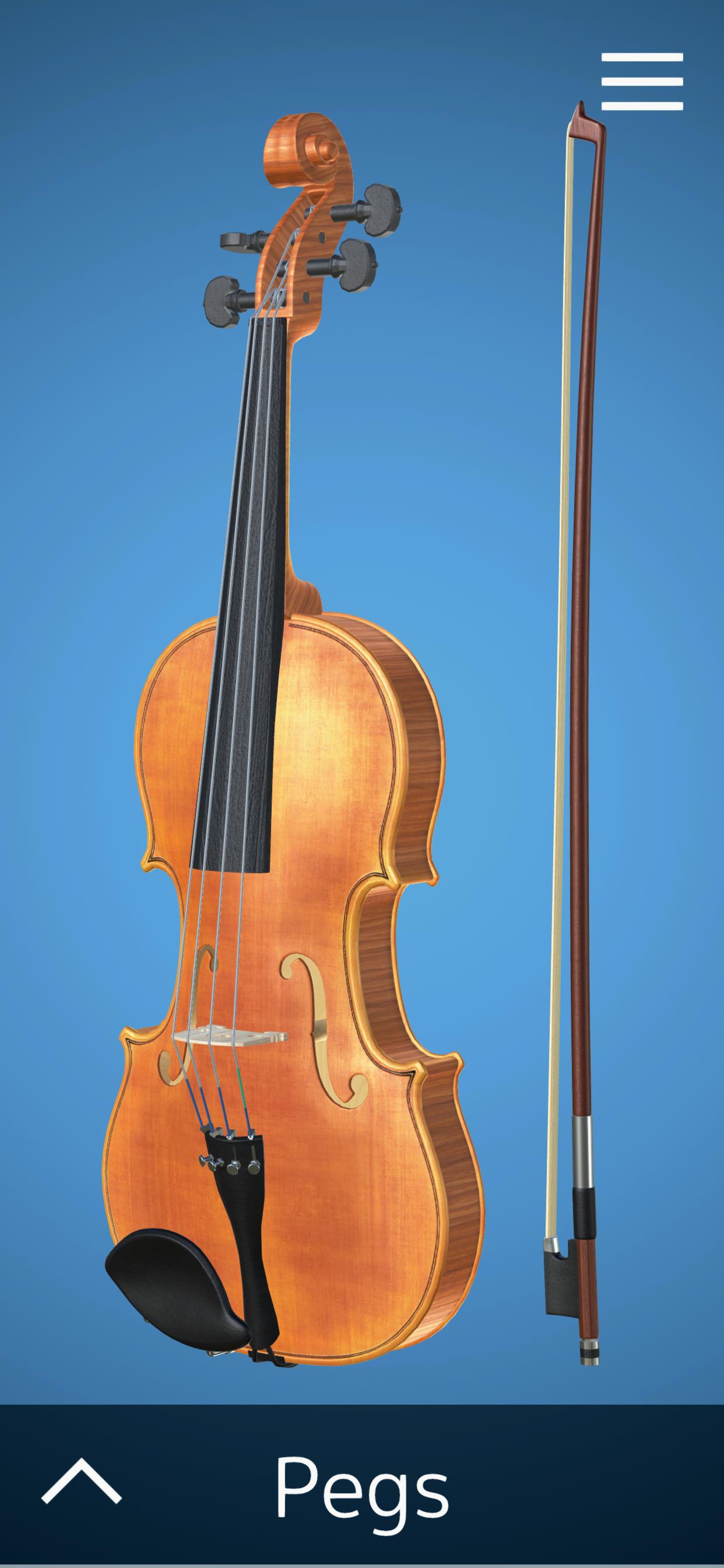 beautifully textured interactive Virtual Violin