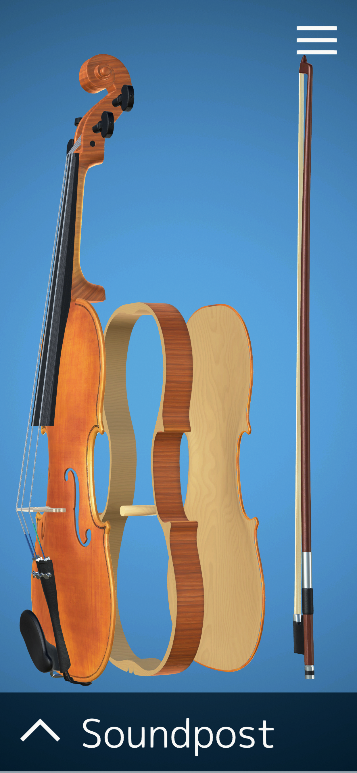 Select Violin parts and learn about them